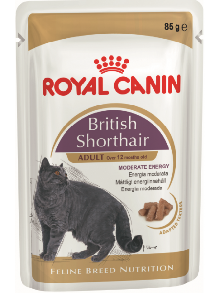 BRITISH SHORTHAIR ADULT (В СОУСЕ) 85гр.