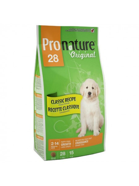 PRONATURE 28 для щенков крупных пород 15 кг